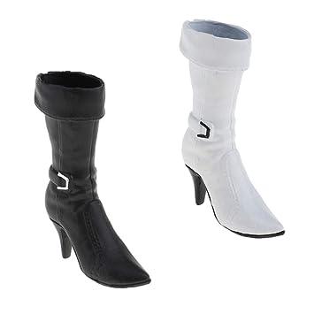"1//6 femminili stivali alti scarpe tacco per 12 /""Kumik Phicen Hot Toys figure"