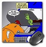 3dRose bromas de mecánica automotriz de zombi - cojín de ratón, 20,32 cm por 20,32 cm (mp_164031_1)