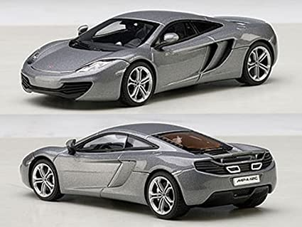 Amazon.com: McLaren MP4 – 12 C Ice Silver 1/43 by AUTOart ...