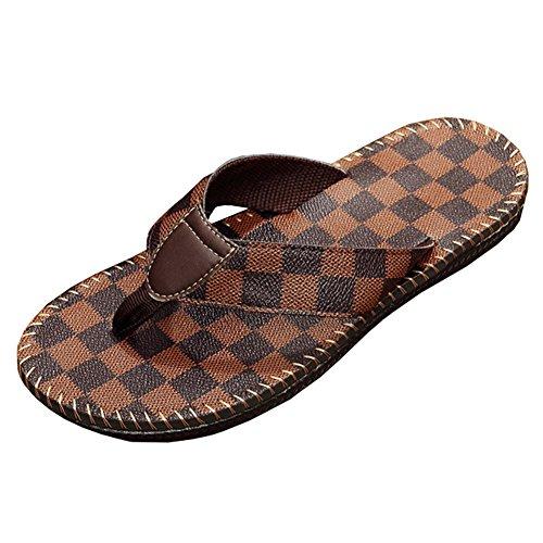 Heren Zomer Slippers Sandalen Mannelijke Strand Slipper Flip-flops 1284-brown