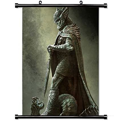 Amazon Wall Posters Scroll Poster With Tiber Septim The Elder Scrolls V Skyrim Game Mobile Home Decor Fabric Painting 236 X 354 Inch