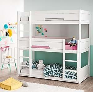 alfred compagnie soldes superpos cama de 3 plazas madera maciza 90 x 200 hermes. Black Bedroom Furniture Sets. Home Design Ideas