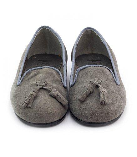 Boni Classic Shoes, Mädchen Ballerinas Mausgraues Wildleder