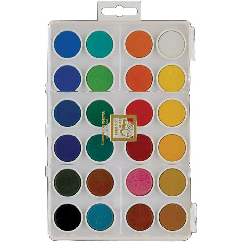 Loew-Cornell 500-24 Assorted Dry Pan Watercolor Paint Cakes, (Loew Cornell Watercolor)