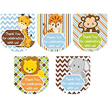 65 PERSONALISED STICKERS Birthday Party Favour Age Labels StickersMonkey