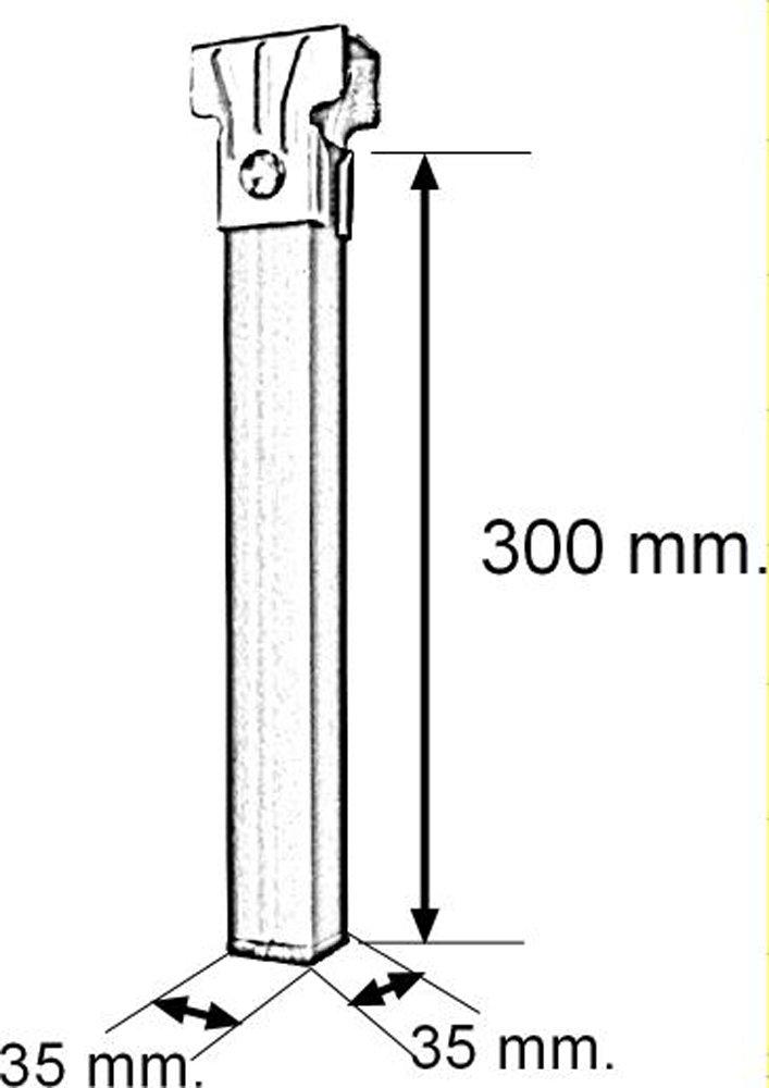 39x5x3 cm Neutro Metal IMEX EL ZORRO Juego 4 Patas somier con Ruedas