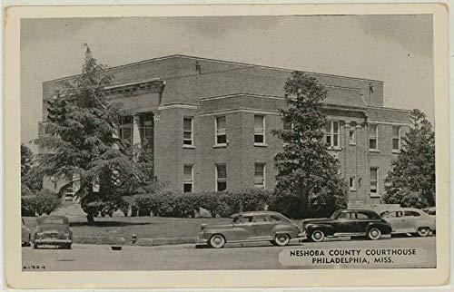 Neshoba County Courthouse Philadelphia Mississippi Vintage 1946