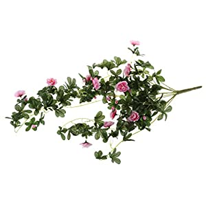 MonkeyJack Artificial Rhododendron Flower Vine Garden Hanging Wall Hanging Decor - Pink, 81cm 85