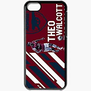 Personalized iPhone 5C Cell phone Case/Cover Skin Arsenal Theo Walcott Case 4873 Black