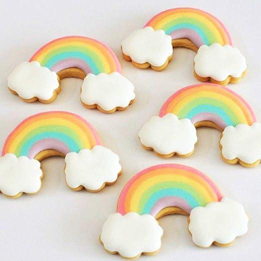 HONYAO Juego de cortador de galletas Unicornio Juego de Cortadores de galletas Arco Iris para Niños Cortadores de acero inoxidable: Amazon.es: Hogar