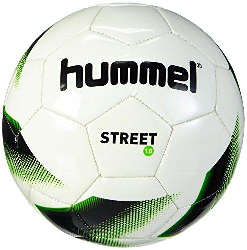 Hummel Erwachsene Fussball 1.0 STREET, White/Black/Gecko Green, 5, 91-736-9322