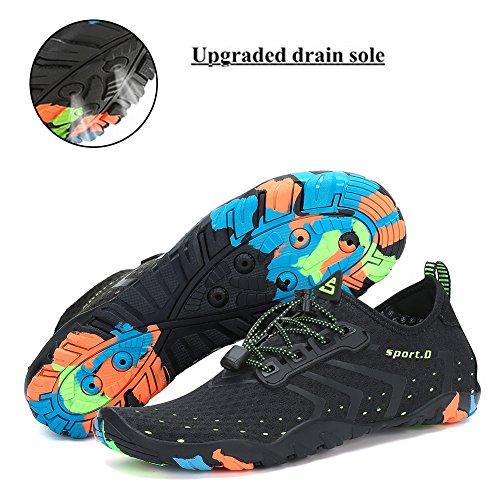 Trocknend Wasserschuhe Schuhe Wassersport für Strandschuhe Pastaza Damen Herren Unisex Schwimmschuh Badeschuhe Schwarz Schnell xfRdctwwq4