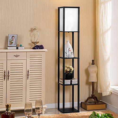 Kitchen Living Room Pass Through See Description: Oneach Modern Shelf Floor Lamp With Open-Box Shelves