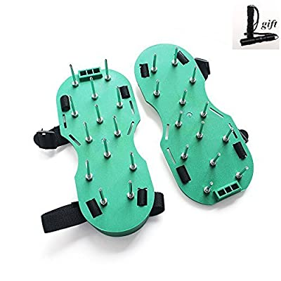 AutoFamily Lawn Aerator Shoes Heavy Duty Spiked Aerator Sandals for Aerating Your Lawn or Yard, Model: , Home & Outdoor Store