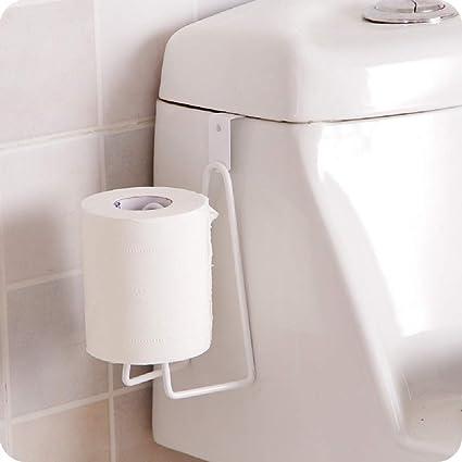 Portarrollos de papel higiénico Loo para encima de la puerta de té, toallero de baño