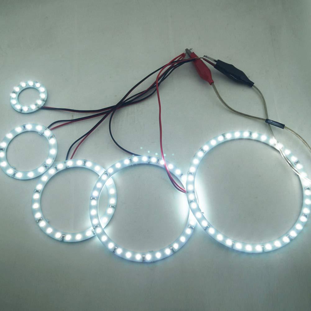 1210SMD LED Faro Halo Ring Angel Eye Lighting Bianco 80mm-Bianca Zantec Kit Auto 2pcs Car Angel Eyes 3528