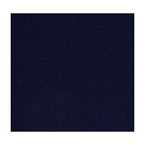 (Premium Suiting Fabric for Men's Suit and Uniforms, Rayon Stretch Twill Gabardine Fabric, (NAVY, 2 Yards))