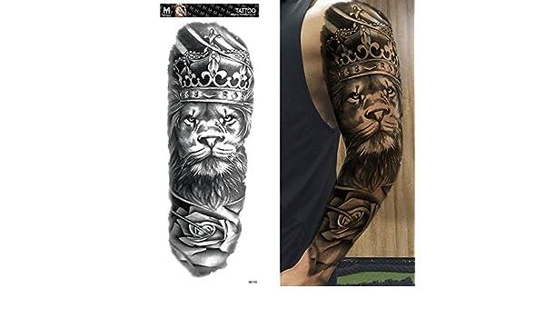 3 Piezas Impermeable Tatuaje Pegatina Flor Letra Lobo Bule Ojo ...