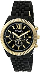 XOXO Women's Quartz Metal and Alloy Automatic Watch, Color:Black (Model: XO249)