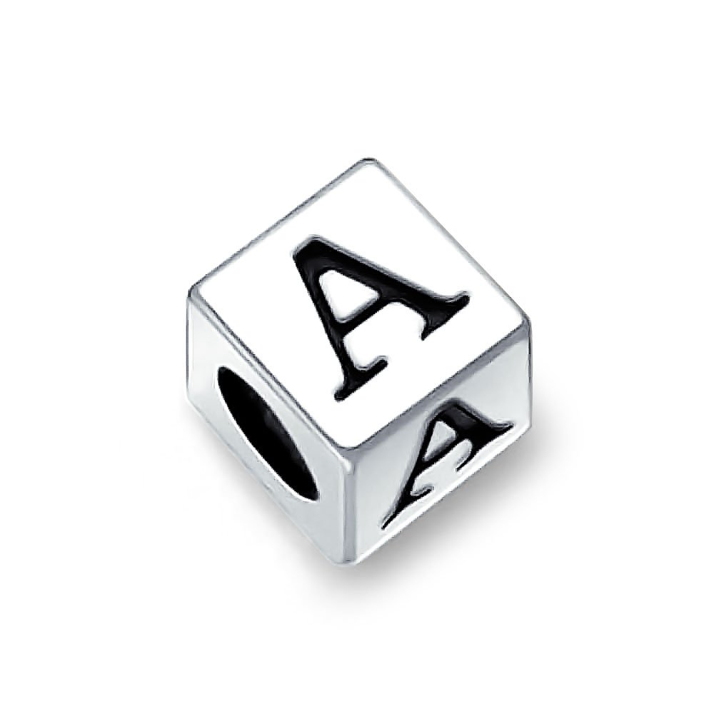Bling Jewelry 925 Sterling Silver Block Letter Charm Bead PBX-TL-ABAL