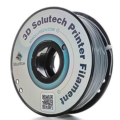 3D Solutech Real Grey 3D Printer PLA Filament 1.75MM Filament, Dimensional Accuracy +/- 0.03 mm, 2.2 LBS (1.0KG) - 100% USA