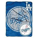 "MLB Los Angeles Dodgers ""Triple Play"" Micro Raschel Throw Blanket, 46"" x"