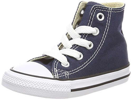 Converse Kids Unisex Chuck Taylor All Star Core Hi (Infant/Toddler) Navy Sneaker 8 Toddler (Toddler Navy Canvas Footwear)