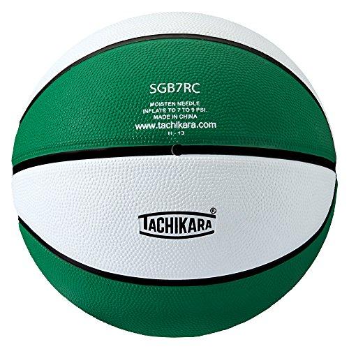 Tachikara Colored Regulation Size BasketBall, Kelly-White Colored Basketballs