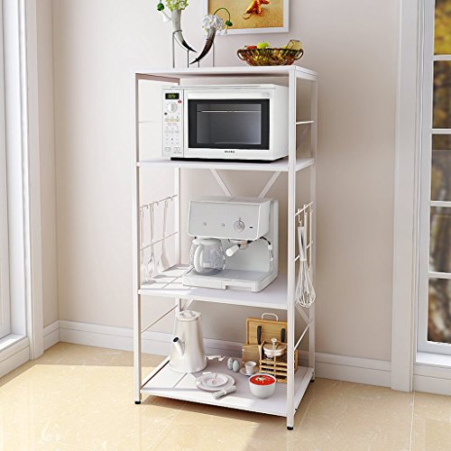 Kitchen Racks Shelves Electrical Shelves Microwave Shelf Oven Rack Floor  Storage Finishing 4 Layers 6040122cm (
