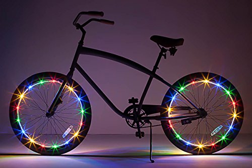 LED Bicycle Wheel Accessory Light (2-Pack Bundle for 2 Tires), Multicolor ()