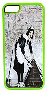 CellPowerCasesTM Banksy Maid in London ChromaLuxe Green Case for iPhone 5c (5c V2 Green Case)