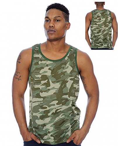 Enimay Men's Summer Army Camo Camouflage Beach Tank Top Musc