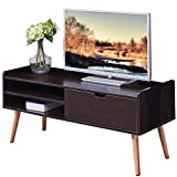 46 tv console - Dland TV Stand WF-TVG002BW, 2-Shelf & 1-Drawer, 46
