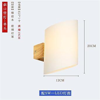 eb193965da9 Vintage lámpara de pared Lámparas de pared Aplique minimalis Mesas modernos  apliques de madera creativa 12