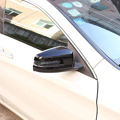 - Gloss Black Side Car Door Rearview Mirror Cover Cap Trim 2pcs For Benz A CLA GLA GLK Class W176 W117 X156 X204