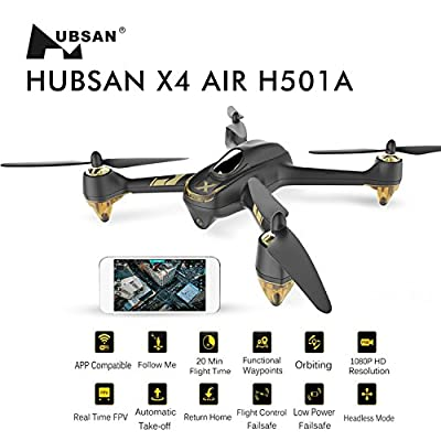 HUBSAN H501A+ X4 Drone Brushless WIFI GPS and App Compatible 6 Axis Gyro 1080P HD Camera RTF Quadcopter (upgraded version H501A+) by Hubsan