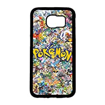 Pokemon Phone Case,Hard Plastic Case Cover for Samsung Galaxy S6 Visaul Perfect Pikachu Design Back Cover