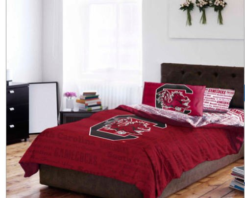 (South Carolina Gamecocks NCAA FULL Comforter & Sheets (5 Piece Bed In A Bag))