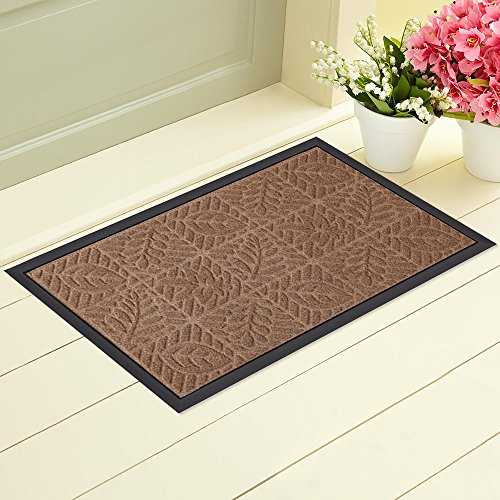 at for Front Door Heavy Duty Outside Shoes Scraper Floor Door Mat for Porch Garage Decor High Traffic Non Slip Entrance Rug Low Profile Green Welcome Carpet Home Decor 18