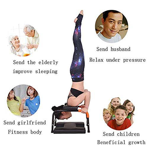 Sports Fitness Yoga Inverted Chair Stretching Frame Multi-Function Inverted Auxiliary Exercise Device Home Inverted Health Sofa Stool Fitness Chair (Load: 150kg) Exercise Ball Chairs by PHSP (Image #5)