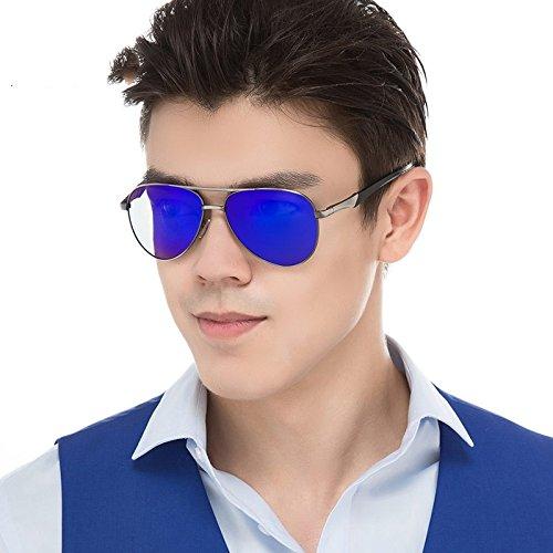 Sol Color Gun Deep De Clásico Trajes Sol De Gafas Guía De Blue TIANLIANG04 Los Silver De Aviadores Silver Gafas Hombres De Gafas Cool Polarizadas Fn1YBx