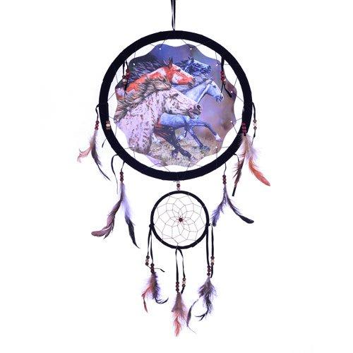 Colorful Running Wild Horses Dream Catcher Decorative Home Gift Decor