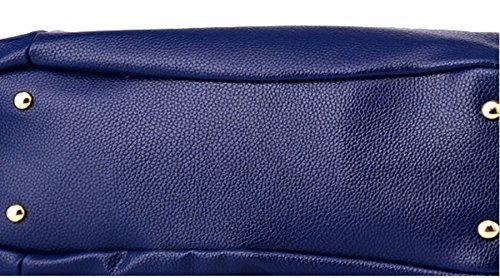 Casual moda borsa morbida borsa donna borsa Messenger borsa a tracolla, blu