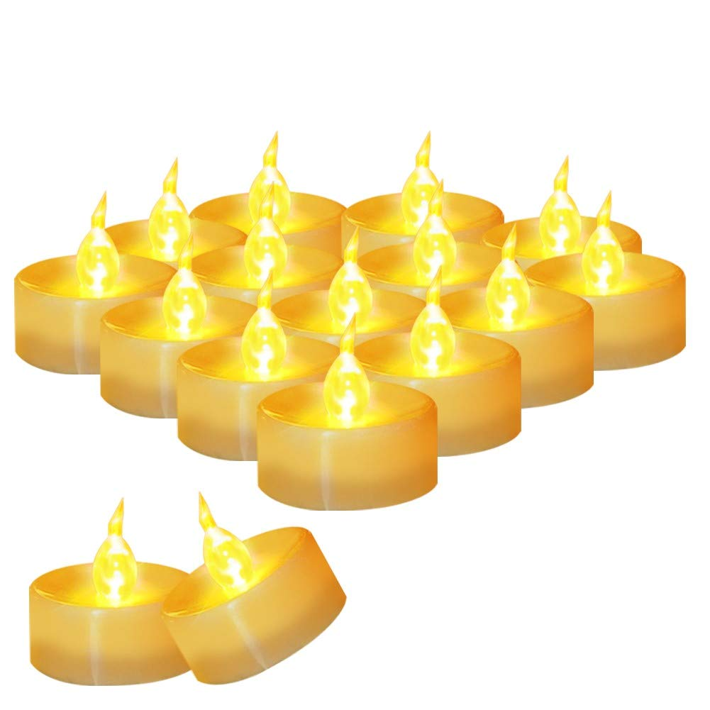 """AMAGIC Small Led Tealight Candles Bulk - Battery Operated Tea Lights with Flickering Amber Yellow Glow, Quality Fake Led Tealight Candles for Holiday, Wedding, Party, Votive(Pack of 30, Dia 1.4"""")"""