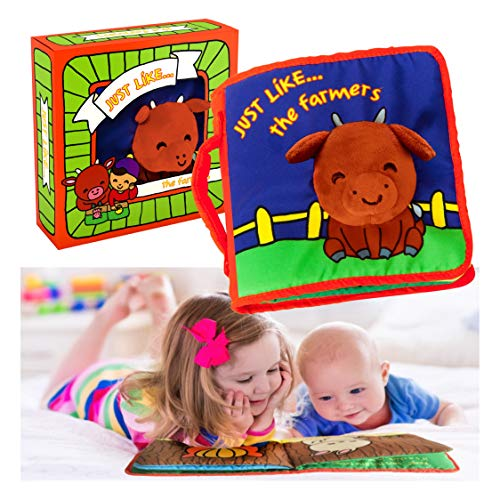 Cloth Book Baby Gift, Interactive Soft Books for Newborn Babies, 1 Year Old...