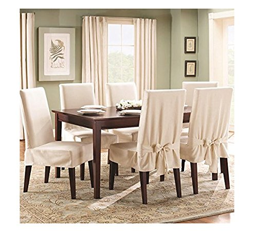 Perfect Amazon.com: Sure Fit Duck Solid   Shorty Dining Room Chair Slipcover    Natural (SF21079): Kitchen U0026 Dining