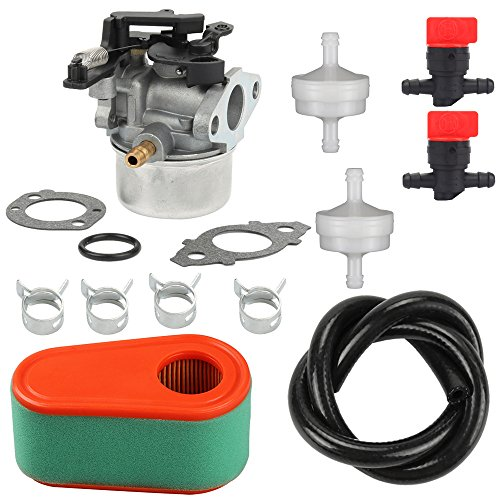 - Harbot 591137 590948 MIA12387 Carburator with 795066 796254 Air Fuel Filter For Briggs and Stratton 111P02 111P07 114P02 Engine Husqvarna 775EX John Deere JS35 JS46 JM46 JS48 Lawn Mower