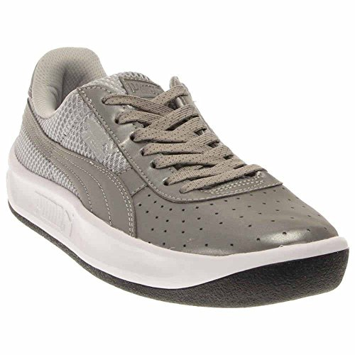 - Puma Gv Special Reflective Mens Silver Patent Leather Lace Up Sneakers Shoes 10.5