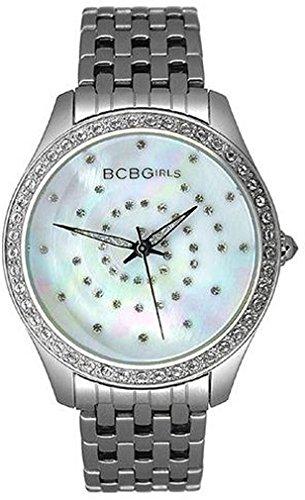 BCBGirls Women's GL4017 Crystal Accented Silver Streak Collection (Bcbg Womens Crystal Watch)