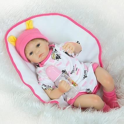 42fe4e803 Amazon.com  NKol Reborn Dolls Lifelike Newborn Baby Dolls with Cow ...